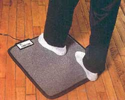 Electric Foot Warmer - Cozy Toes Carpeted Electric Foot Warmer and Under Desk Heater