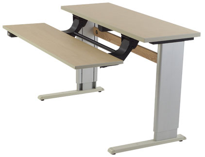 Infinity Adjustable Dual Surface Workstation - American Maple