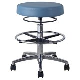Office Master Classic CL13 Professional Rolling Office Stool with Footring